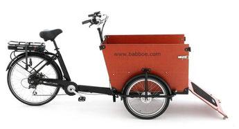 Babboe Lastenfahrrad mit Elektromotor Dog-E