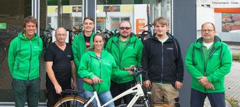 Lastenrad Förderung Schleswig - das Team im Lasenfahrrad-Zentrum Schleswig