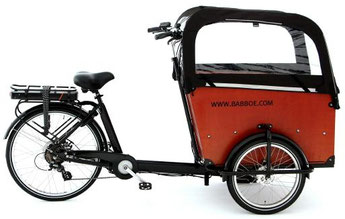 Babboe Lastenfahrrad mit Elektromotor Big-E