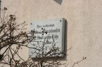 Gedenktafel am Hotel Jahnke Rostocker Stra0ße Neubrandenburg