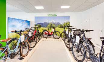 Die e-motion e-Bike Welt in Aarau-Ost