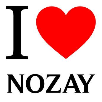 Maisons Kernest, votre constructeur à Nozay pour construire sur un terrain votre maison neuve. Photo avec un coeur rouge le I anglais et le nom de Nozay