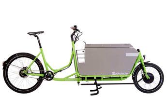 Radkutsche Cargobike und Lastenvelo Rapid mit Elektromotor