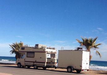 Ankunft in Oropesa del Mar, wieder direkt am Meer