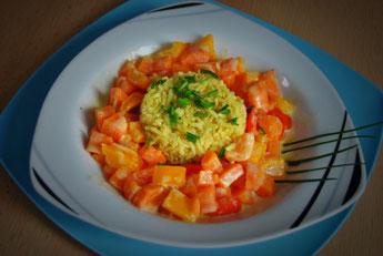 Detox Gericht: Gemüsepfanne mit Kokosmilch & Reis