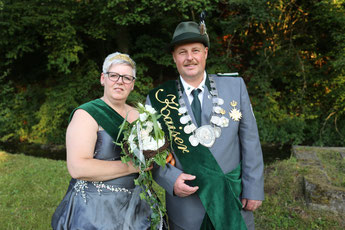 Königspaar 2018, amtierendes Kaiserpaar und Jugendkönigspaar 2018