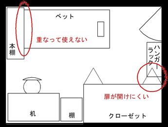 6帖部屋の配置