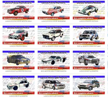 shop online kit adesivi rally lancia abarth fiat venduti da pubblimais a torino