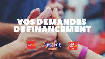 Vos demandes de financement via CAP48, Viva for Life et LAB CAP48