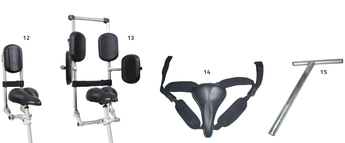 Sitzhilfen für das Pfau Tec Combo Dreirad