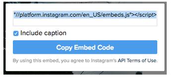 Copier Instagram embed code