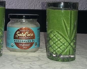 Rezept für Smoothy mit Kokosöl