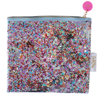pochette paillettes multicolores- idées cadeaux fille- eveything pouch multi coloured confetti gilr idea gift