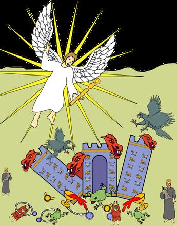 Babylone la grande prétend représenter Dieu sur la terre va devoir rendre des comptes. Tous les actes répréhensibles qu'elle a commis au nom du Tout-Puissant la rendent doublement responsable. Jésus dit qu'elle recevra double salaire pour ses crimes.
