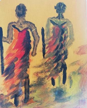 Bild von Vjosas Mama gemalt