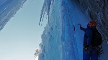 Cascade de glace Glacenost topo Glacenost direct tube de gauche Haute-Maurienne Guide de Haute Montagne