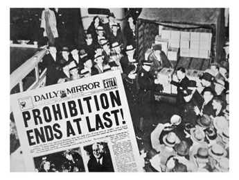 Prohibition ends at last! - Daily Mirror - 05.12.1933