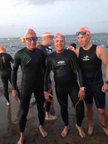 Gracia, Patricia und Steffi vor dem Schwimmstart