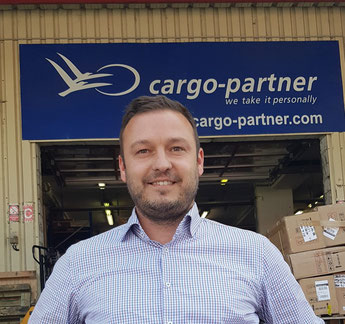 cargo-partner's Domokos Molnar welcomes growing tonnage trucked from Turkey to his company's facility at BUD Airport  -  photo: hs