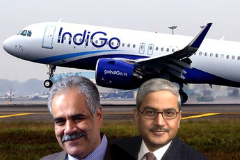 Indigo co-founders but rivals: Rahul Bhatia (left) and Rakesh Gangwal  - courtesy Indigo
