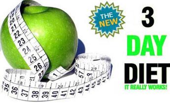 Dieta per dimagrire in tre giorni
