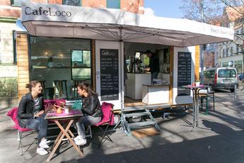 Bauwagen Café mobile Kaffeebar Cafebar Cafe Loco Hannover