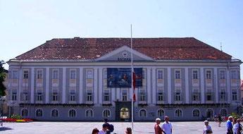 Das frühere Palais Rosenberg in Klagenfurt in welchem gegenwärtig das Rathaus untergebracht ist
