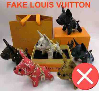 bull dog Louis Vuitton contrefacon porte clée