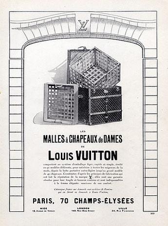Publicitaire parue dans Femina en Mai 1924 Louis Vuitton