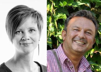 Gäste aus München und Lauf a.d. Pegnitz: Vanessa Mantini und Uwe Zwick sprechen bei der 4. Bürgerkonferenz.