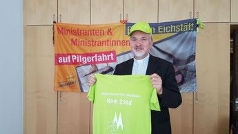 Foto: Bischof Hanke freut sich auf die Ministrantenwallfahrt / Geraldo Hoffmann