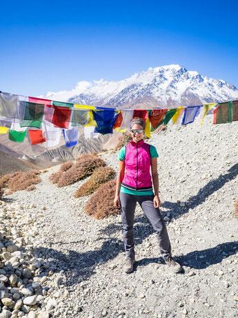 Bei strahlendem Sonnenschein auf dem Pass Charang-La