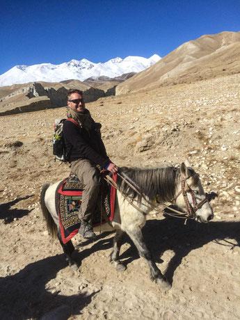 Auch Micha machte sich gut auf seinem Pferd und hatte Spaß