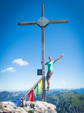 Geschafft - auf dem Gipfel des Rauhhorns