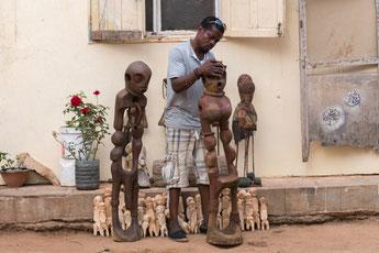 Kodjovi Tessi im Village des Arts, Dakar, Senegal
