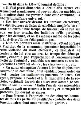 """Extrait du """"Journal des débats"""" 19 Mai 1849"""
