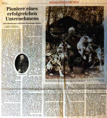 Pioniere eines erfolgreichen Unternehmens - Zwei Langebrücker schreiben Konsum-Geschichte; Max Radestock, Max Hirschnitz;  In Dresdner Neueste Nachrichten vom 14.10.2013