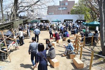 開成マルシェの様子(4月23日開催)