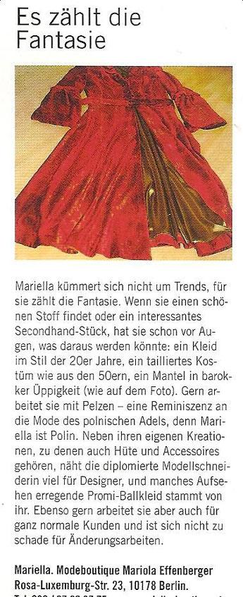 """Rubrik in """"TOP Berlin - Das Hauptstadtmagazin"""""""