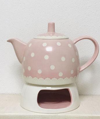 Teekanne zitronengold - Keramik bemalen