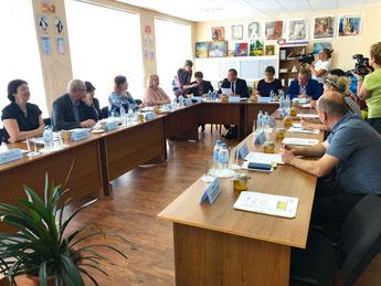 Заседание руководящей группы проекта EcoAgRAS на базе племенного завода «Первомайское»