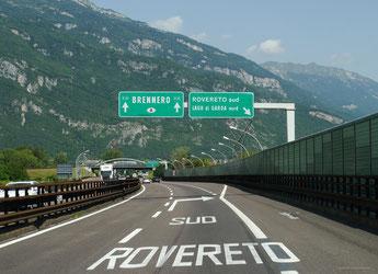 Auf der Brennerautobahn Richtung Heimat