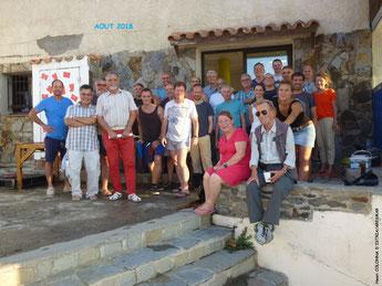 Amis, anciens membres et fouilleurs de l'année réunis