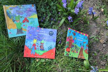 La trilogie jeunesse de Zip le lutin entre violettes et crocus au jardin de Garchy dans la Nièvre