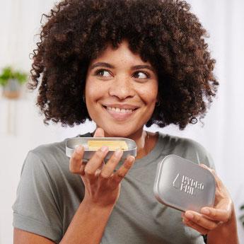 Lavendel Seife für Körper und Haar 3er Vorratspack - Naturkosmetik zertifiziert - biologisch abbaubar