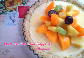Ricotta Tart With Lemon Poppy Crust
