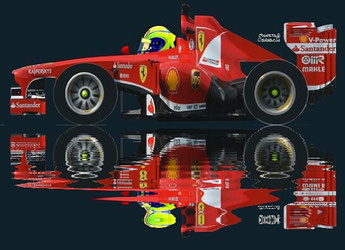Felipe Massa by Muneta & Cerracín - En 2013 en Brasil con la Scuderia Ferrari a los mandos de un Ferrari F138