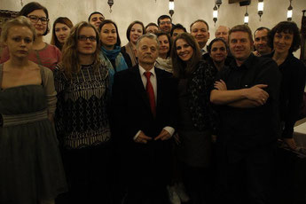 Group Picture with Mustafa Dzhemilev,  Chairman of the Mejlis of the Crimean Tatar People