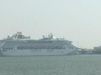 豪華客船サン・プリンセスです