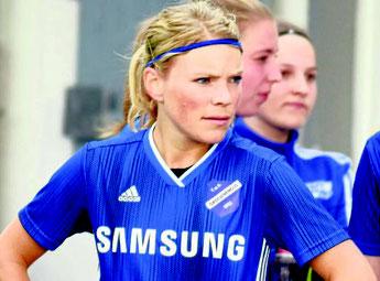 Sichtlich enttäuscht: Johanna Pospichs Treffer war für Viktoria Großenenglis gegen Marburg zu wenig.